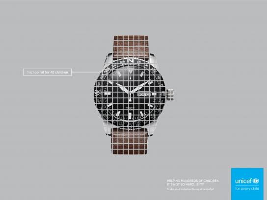 Unicef Print Ad - Watch
