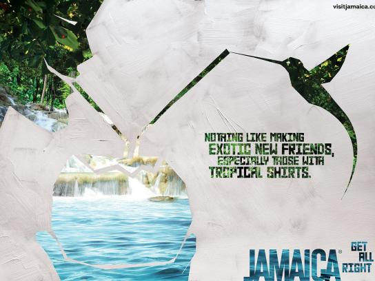 Jamaica Tourist Board Print Ad -  Waterfall