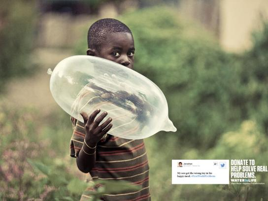 WATERisLIFE Print Ad -  Happy meal