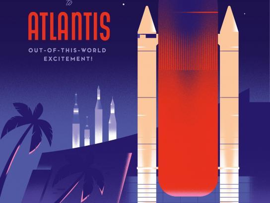 Space Florida Outdoor Ad - Atlantis Poster