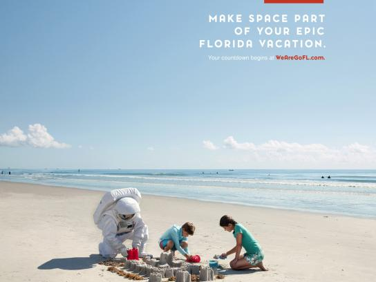 Space Florida Print Ad - Make Space Part of Your Vacation