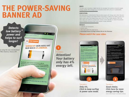 Wien Energie Digital Ad - The power-saving banner ad