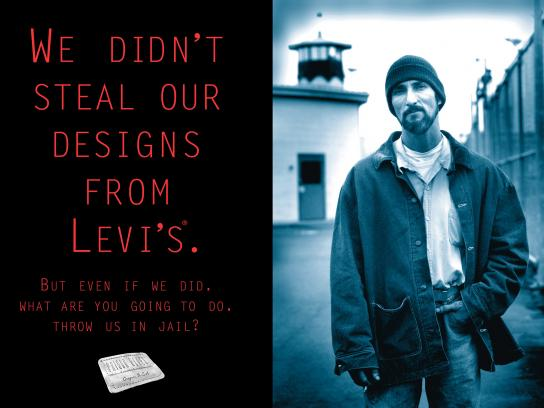 Prison Blues Print Ad - We Didn't Steal