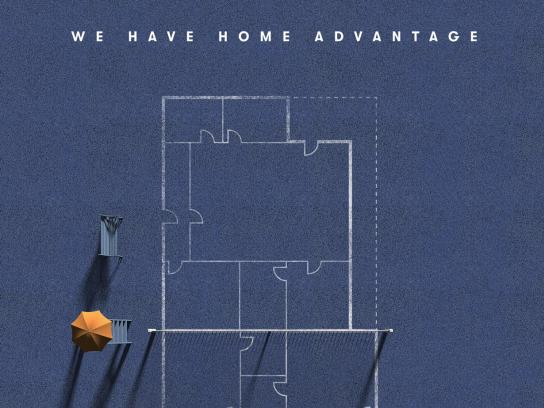Vanguard Properties Print Ad - We Have Home Advantage
