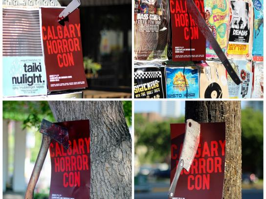 Calgary Horror Convention Outdoor Ad -  Weapons