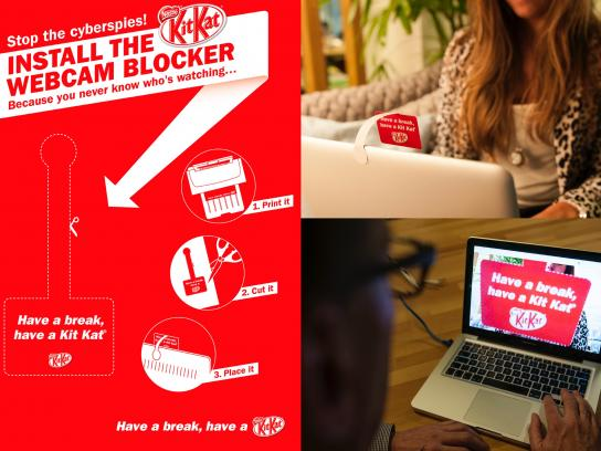 Kit Kat Ambient Ad -  Webcam Blocker