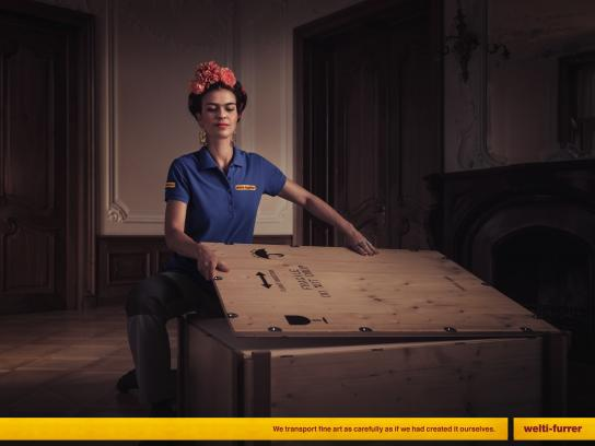 Welti-Furrer Print Ad - Frida Kahlo