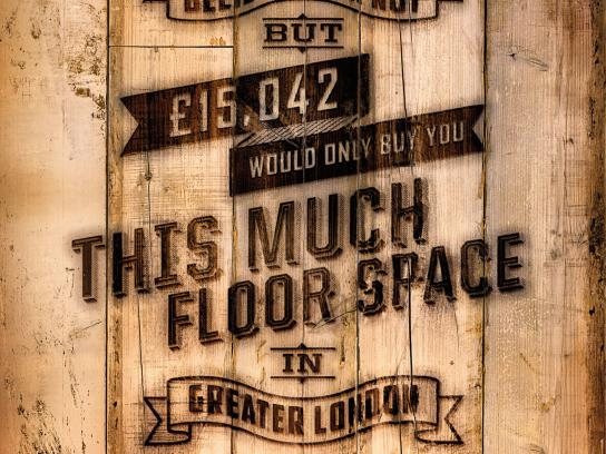 Homes for Britain Outdoor Ad -  Floorboards