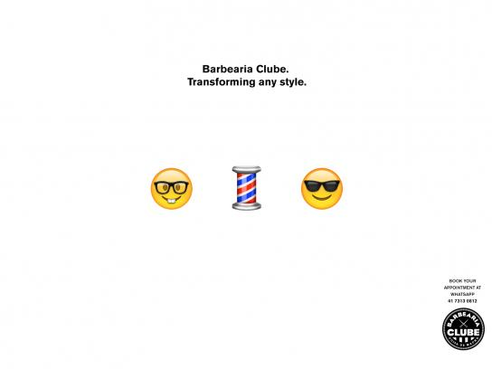 Barbearia Clube Print Ad -  Transforming any style, 1