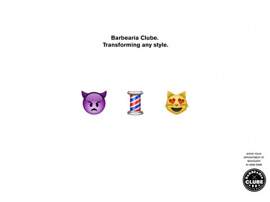 Barbearia Clube Print Ad -  Transforming any style, 3
