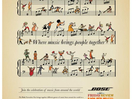 The Hindu Print Ad -  November Fest, Where music brings people together