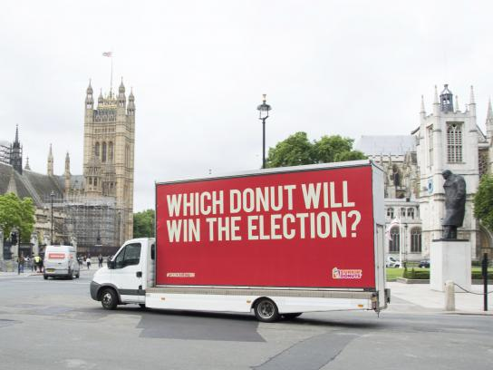Dunkin' Donuts Outdoor Ad - The Snack Election