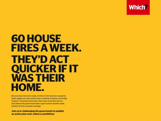 Which? Print Ad - Government's Lack of Urgency on Product Safety Called Out