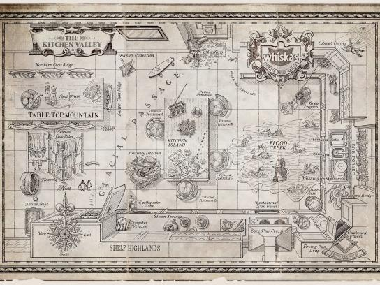 Whiskas Print Ad -  The Kitchen Valley Map