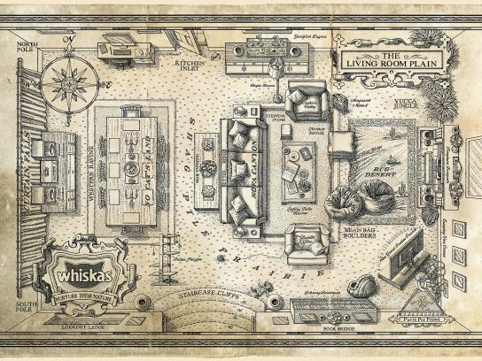 Whiskas Print Ad -  The Living Room Plain Map