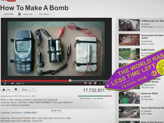 White Collar Hippies Print Ad -  How to make a bomb