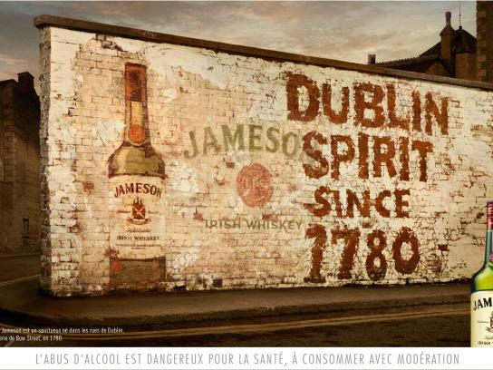 Jameson Outdoor Ad -  White wall