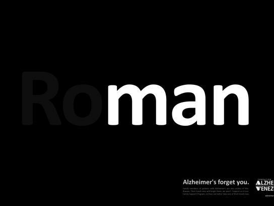 Venezuela's Alzheimer Foundation Print Ad - roMAN