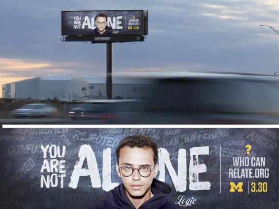 WhoCanRelate.org Outdoor Ad - You Are Not Alone: Tease & Reveal, Logic
