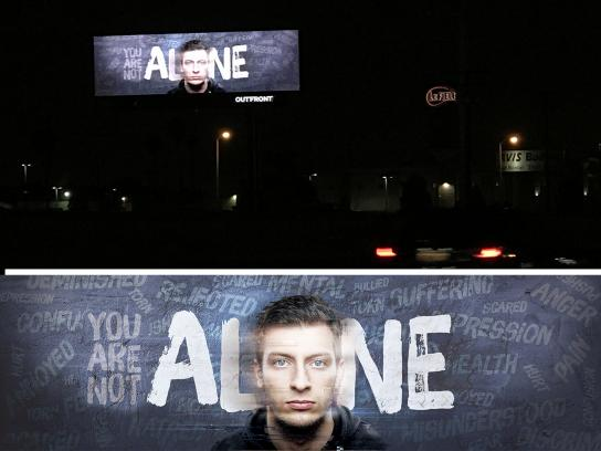 WhoCanRelate.org Outdoor Ad - You Are Not Alone: Tease & Reveal, 1