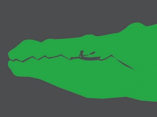 Wild Guanabana Print Ad -  Crocodile