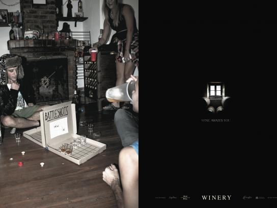 Winery Print Ad -  Battleshots