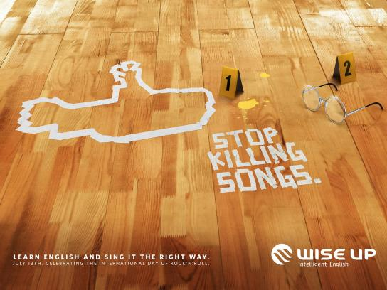 Wise Up English School Print Ad -  Submarine