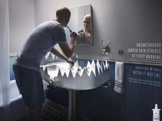 Lazanda Print Ad - Without warning - Sink