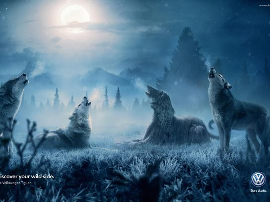 Volkswagen Print Ad -  Wolves