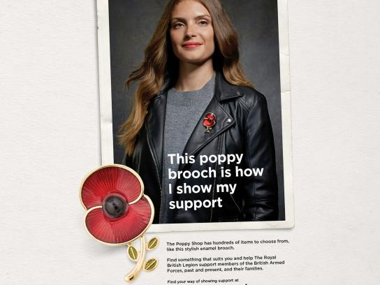 The Royal British Legion Print Ad - This Poppy Shop is how I show my support - woman