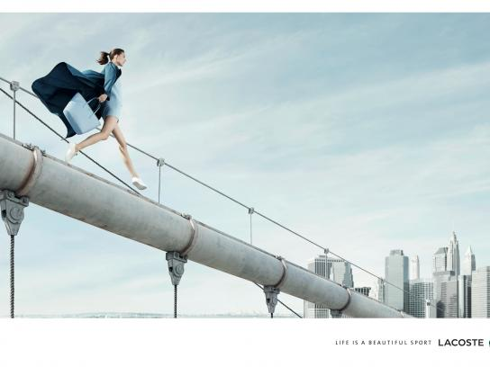 Lacoste Print Ad -  Life is a beautiful sport, Woman