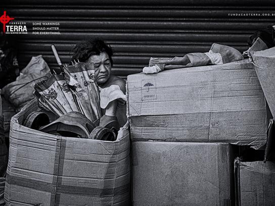 Fundação Terra Print Ad - Homeless, 3