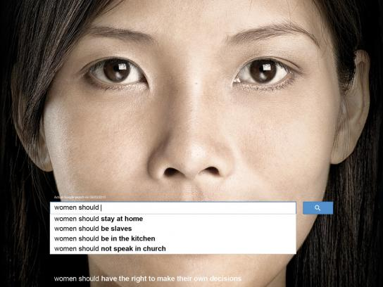 UN Women Print Ad -  Auto Complete Truth, 2