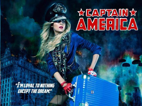 Deseno Print Ad - Women Superheroes - Captain America