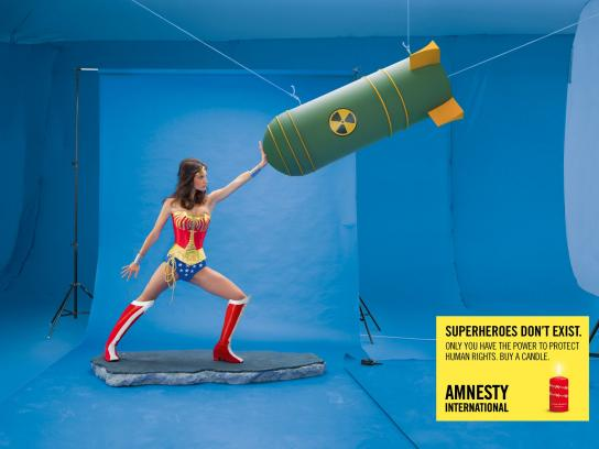 Amnesty International Print Ad -  Wonder Woman