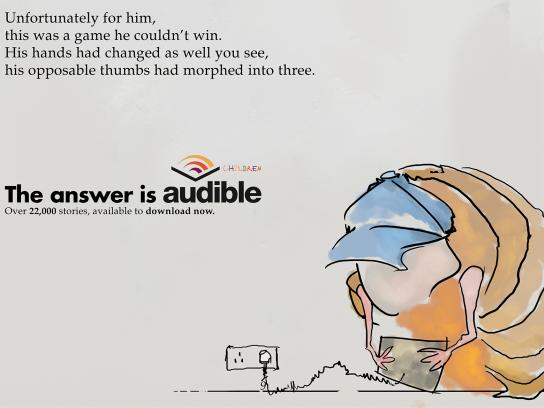 Audible Print Ad - Little Monsters - Woodlouse Will
