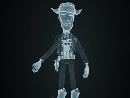 Disney Print Ad - X-Ray Story - Woody
