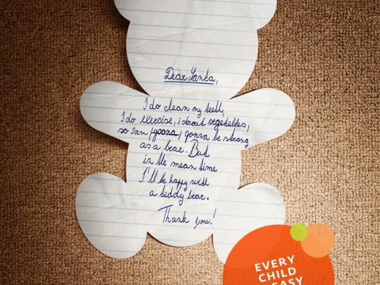Woow Toys Print Ad -  Letters to Santa, Teddybear