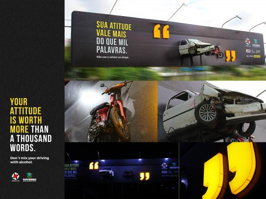 Detran-RN Outdoor Ad - Words, Outdoor