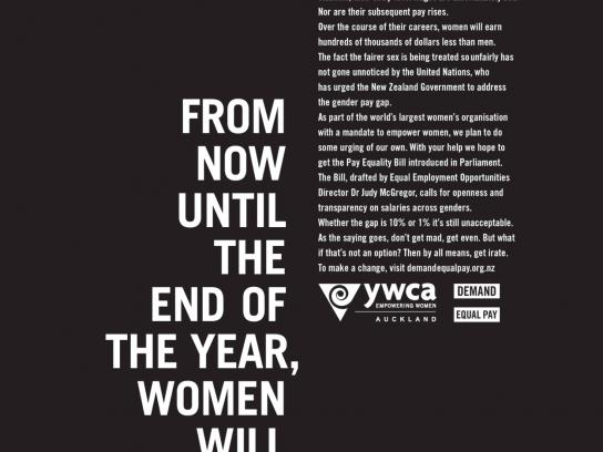 YWCA Print Ad -  Work For Free