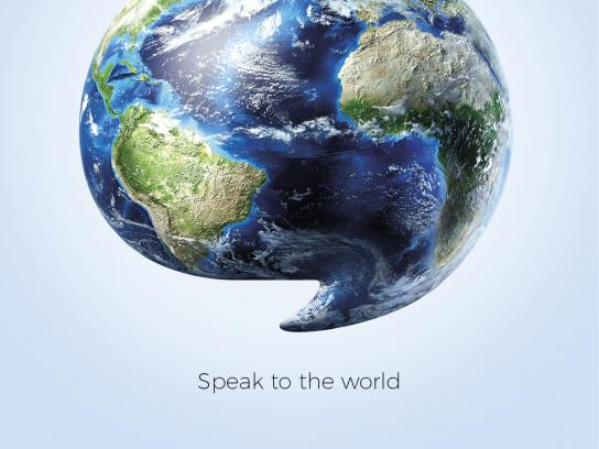 Speak & Learn Print Ad - World