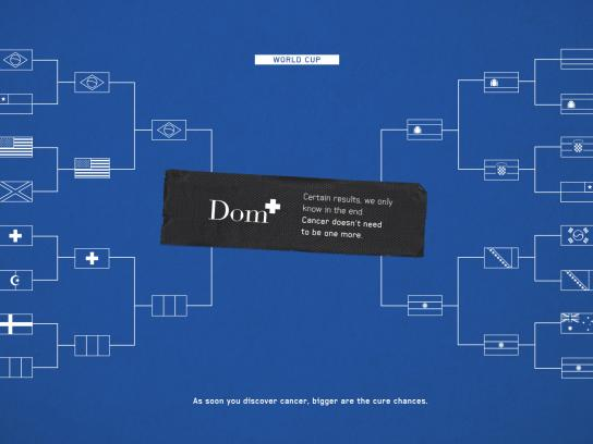 Dom Diagnostic Clinic Print Ad - Cancer Fighting Week - World Cup