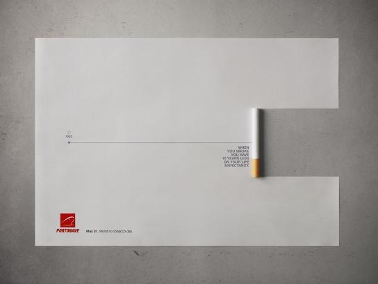 World No Tobacco Day Print Ad -  Time Line