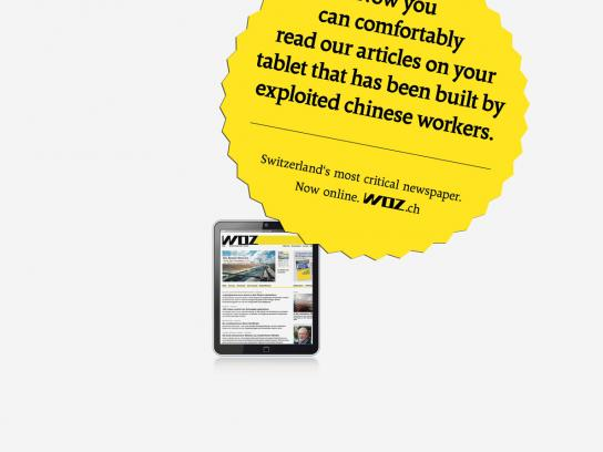 WOZ Print Ad -  Tablet