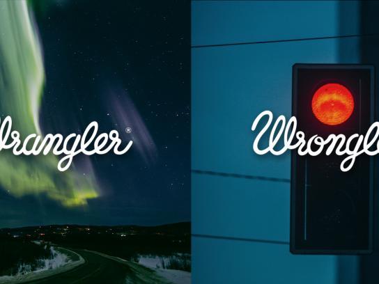 Wrangler Print Ad -  Wrangler vs Wrongler, 1