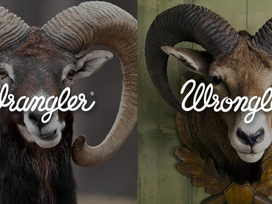Wrangler Print Ad -  Wrangler vs Wrongler, 2