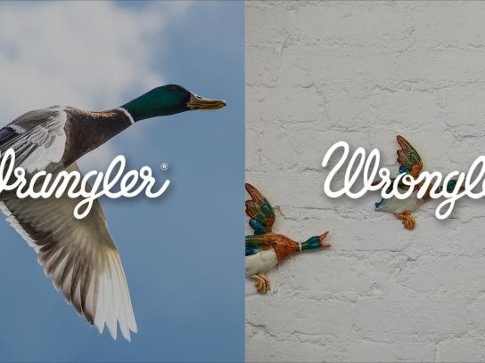 Wrangler Print Ad -  Wrangler vs Wrongler, 12