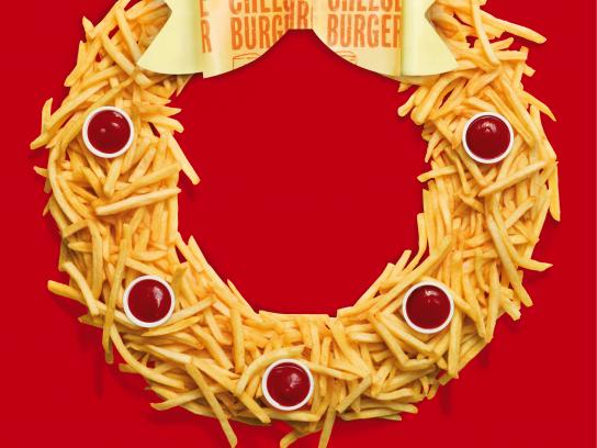 McDonald's Print Ad - Wreath