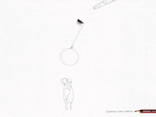 Nataraj Pencils Print Ad -  Wrecking ball