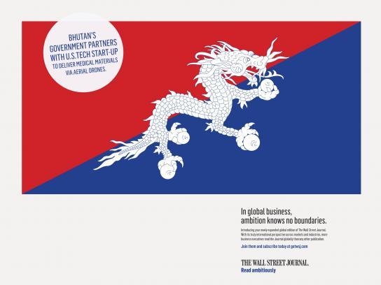 The Wall Street Journal Print Ad - Bhutan